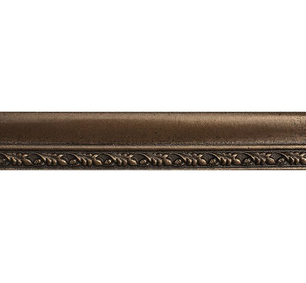 8 x 1.5 Olive Branch Border Accent Tile in Bronze by Parvatile