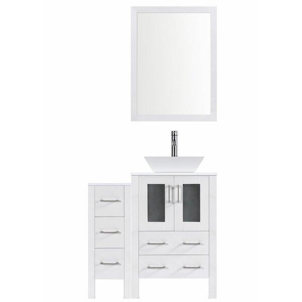Modern 36 Single Bathroom Vanity Set with Mirror by LessCareModern 36 Single Bathroom Vanity Set with Mirror by LessCare