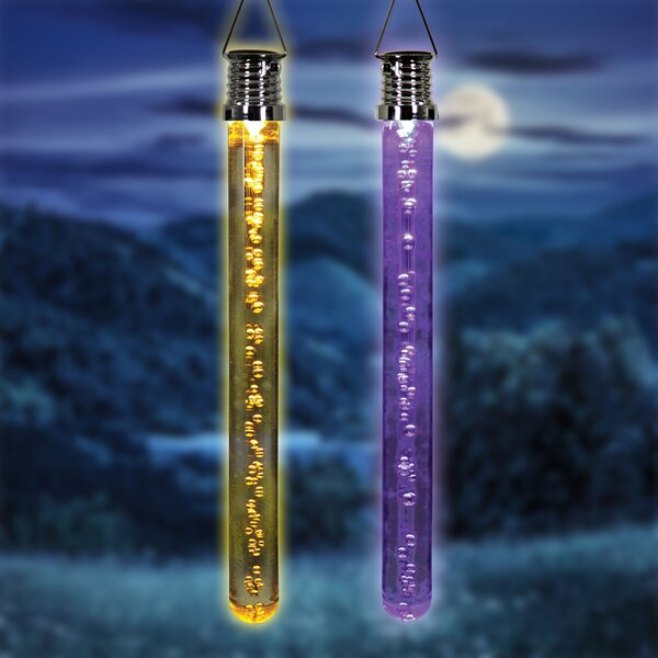 Solar Hanging LED Bubble Sticks Lighted Display (Set of 4) by The Holiday Aisle