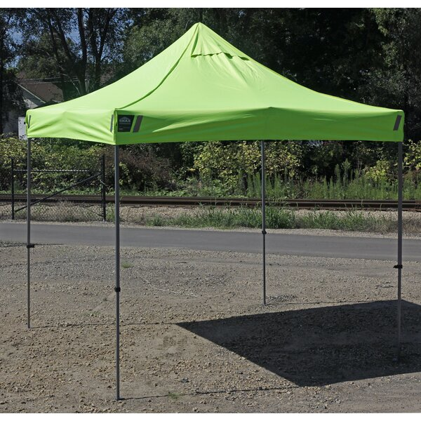 SHAX 10 Ft. W x 10 Ft. D Steel Pop-Up Canopy by Ergodyne