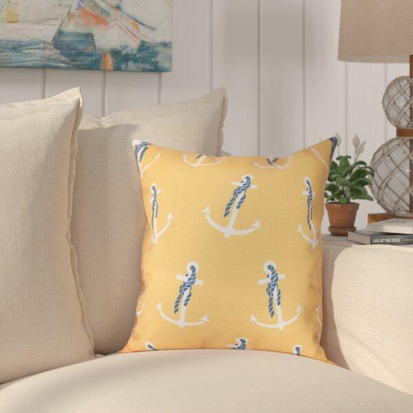 Hancock Anchor Whimsy Geometric Print Throw Pillow by Breakwater Bay