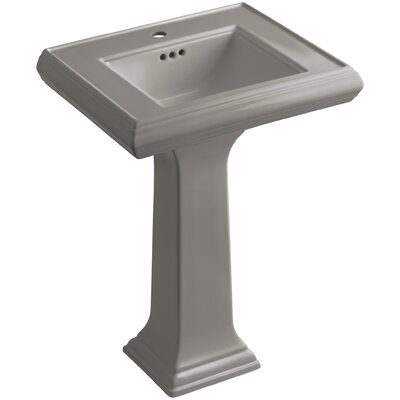 Pedestal Sink Ceramic Overflow Faucet Mount Single 1623 Product Image