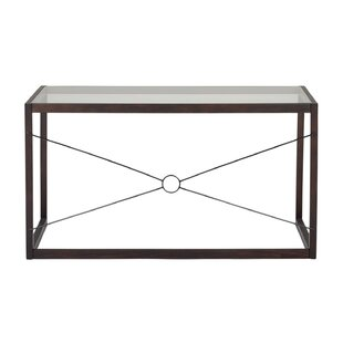 Best Reviews Sulligent Tempered Glass Writing Desk By Ebern Designs