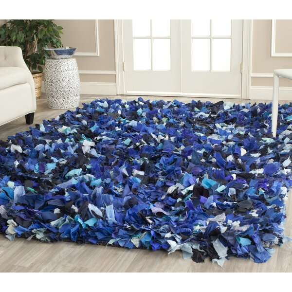 Messiah Hand-Tufted Blue/Black Area Rug by Bungalow Rose
