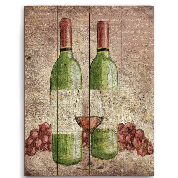 Wine Bottles Painting Print by Click Wall Art