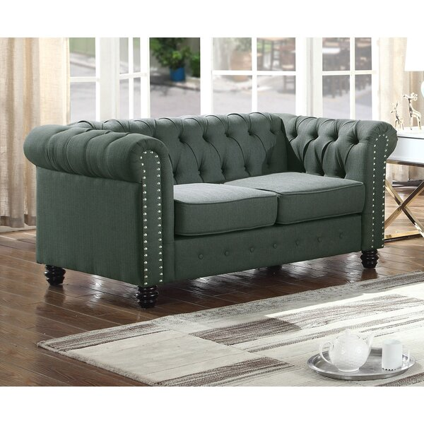 Last Trendy Sharniece Modern Loveseat by Ophelia & Co. by Ophelia & Co.