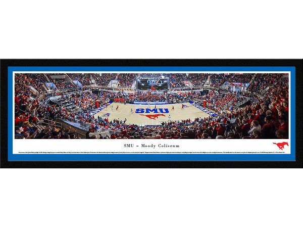 NCAA Southern Methodist University Framed Photographic Print by Blakeway Worldwide Panoramas, Inc