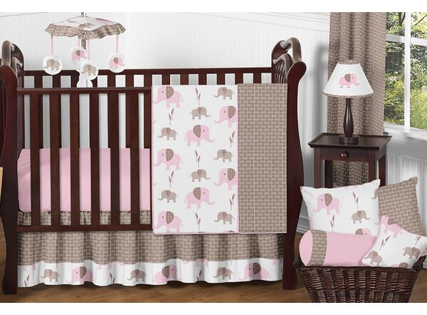Mod Elephant 11 Piece Crib Bedding Set by Sweet Jojo Designs