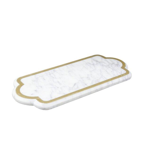 Rectangular Marble Serve Board Platter by Patina Vie