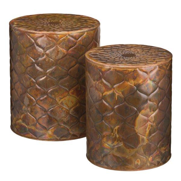 2 Piece Copper Trellis Garden Stool Set by Regal Art & Gift