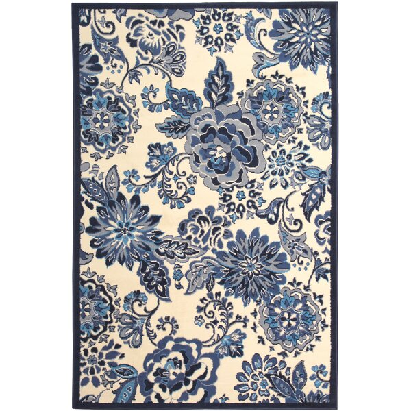 Bonner White/Blue Area Rug by Latitude Run