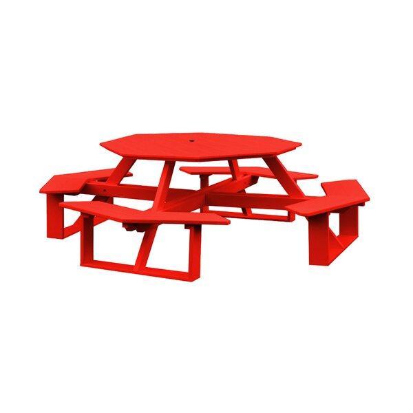 Filomena Plastic Picnic Table By Red Barrel Studio