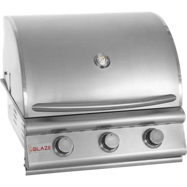 3-Burner Built-In Convertible Gas Grill by Blaze G