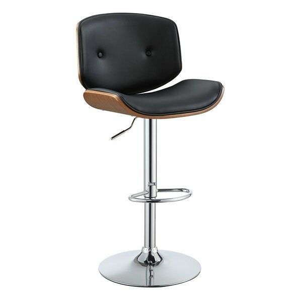 Dinan Adjustable Height Swivel Bar Stool by George Oliver