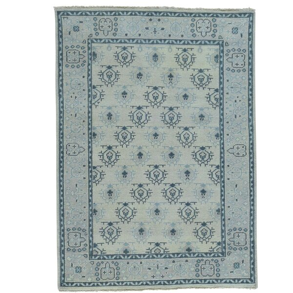 One-of-a-Kind Pavot Knot Oushak Oriental Hand-Knotted Area Rug by One Allium Way