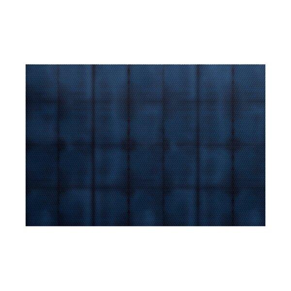 Viet Blue Stripe Indoor/Outdoor Area Rug by Bloomsbury Market