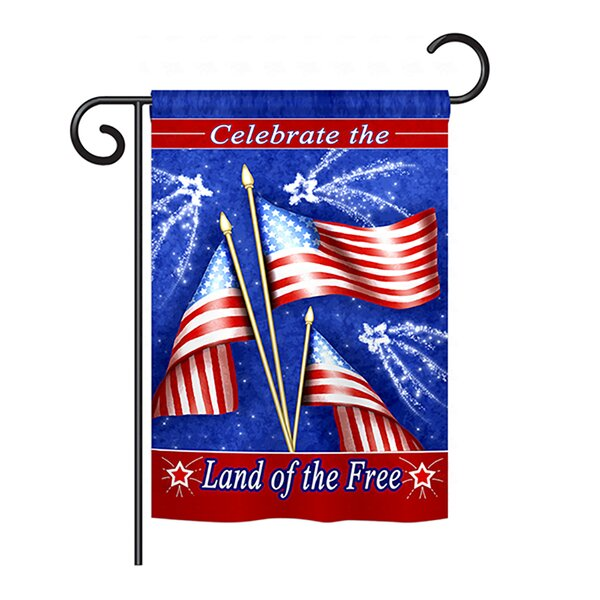 Celebrate Freedom 2-Sided Vertical Flag by Breeze Decor