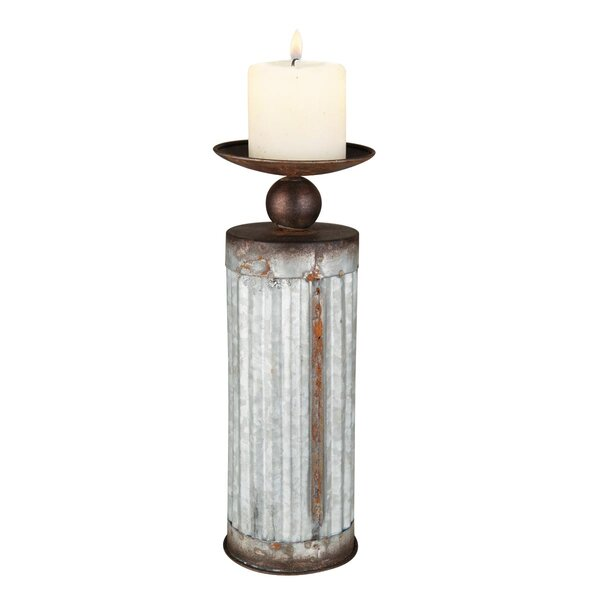 Corrugated Metal Candlestick by Foreside Home & Garden