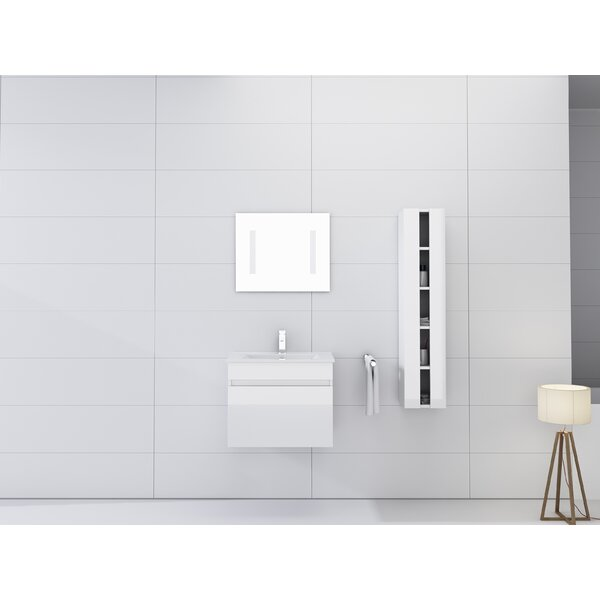 Kimbrough 24 Wall-Mounted Single Bathroom Vanity Set with Mirror by Orren Ellis