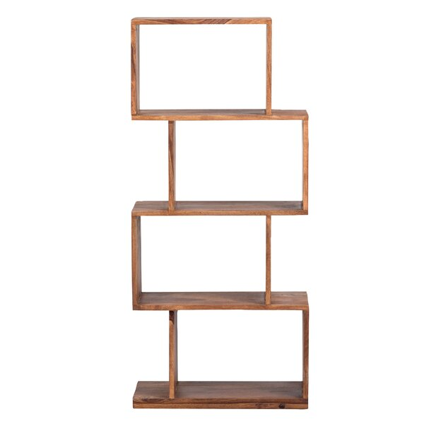 Amerson Mid-Century Modern Sheesham Wood Standard Bookcase by Foundry Select