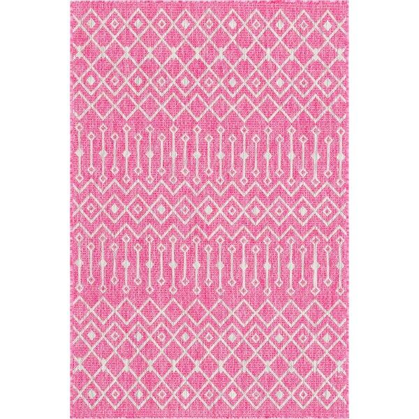 Avah Pink/Gray Indoor/Outdoor Area Rug