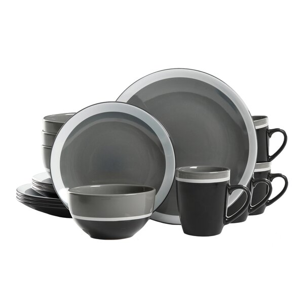 Leopoldo Color Eclipse 16 Piece Dinnerware Set, Service for 4 by Ebern Designs