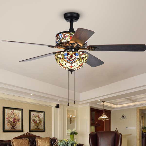 52 Cerny Heart 5 Blade Ceiling Fan by Fleur De Lis Living