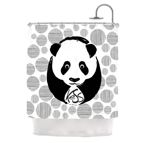 Panda Shower Curtain By Kess Inhouse.