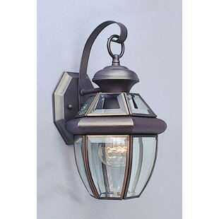 Buy clear 1-Light Outdoor Wall Lantern By Volume Lighting