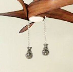 Fan Pull Chain with Small Ball Finial (Set of 2) by Royal Designs