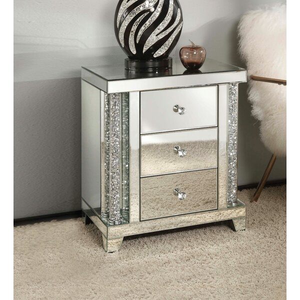 Wade Rectangular 3 Drawer Nightstand by House of Hampton