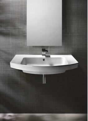 Modo Ceramic Rectangular Drop-In Bathroom Sink with Overflow by GSI Collection