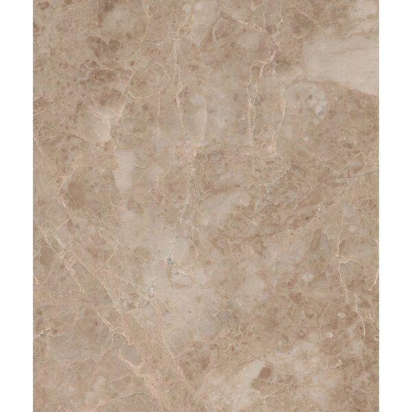 Cappuccino 6 x 6 Marble Field Tile in Beige by Seven Seas