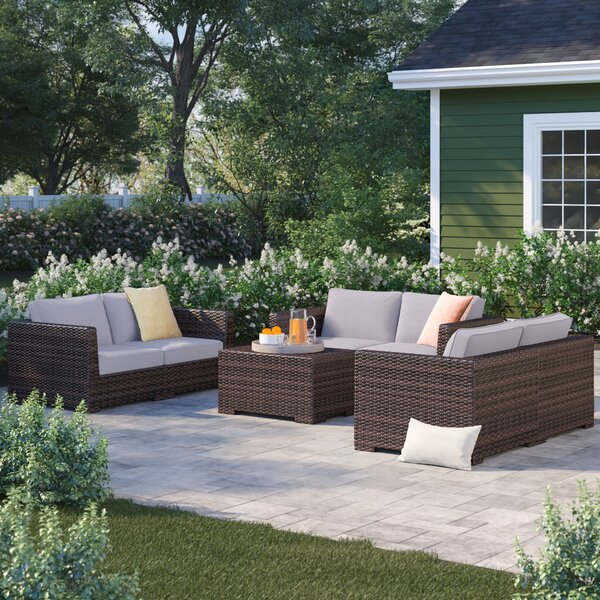 Letona 4 Piece Sofa Seating Group with Cushions by Sol 72 Outdoor