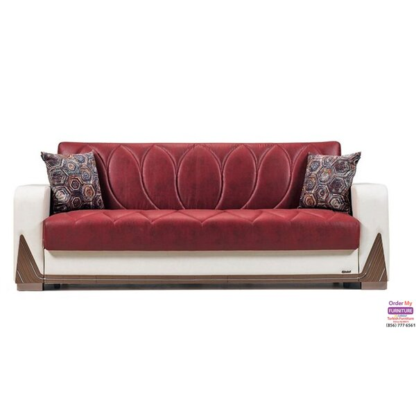 Anette Chenille Round Arms Sofa by Latitude Run Latitude Run
