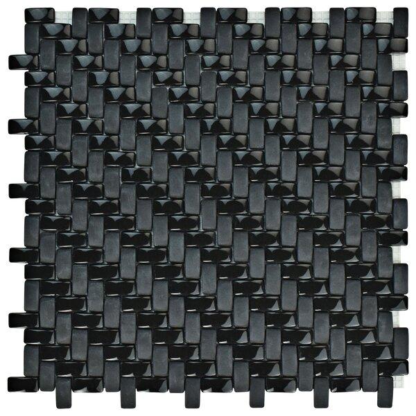 Esamo Weave 0.48 x 0.96 Glass Mosaic Tile