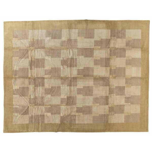 One-of-a-Kind Hand-Knotted Beige 12' x 16' Area Rug