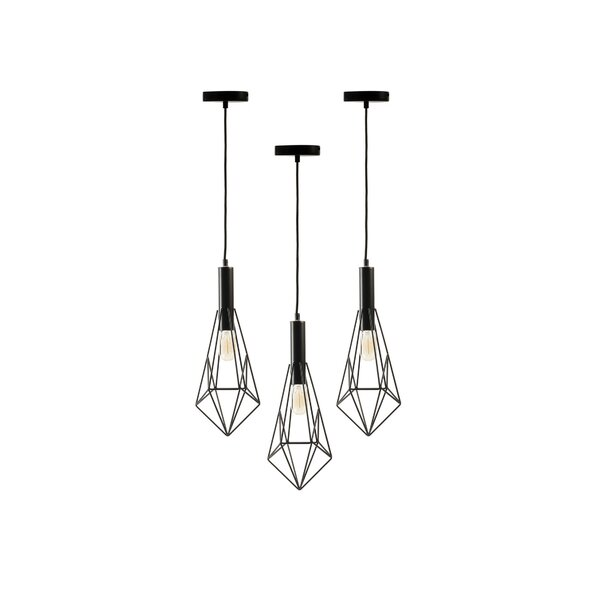 Brannon 1-Light Geometric Pendant (Set of 3) by Wrought Studio