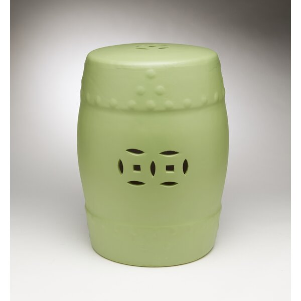 Finley Ceramic Garden Stool by Bloomsbury Market