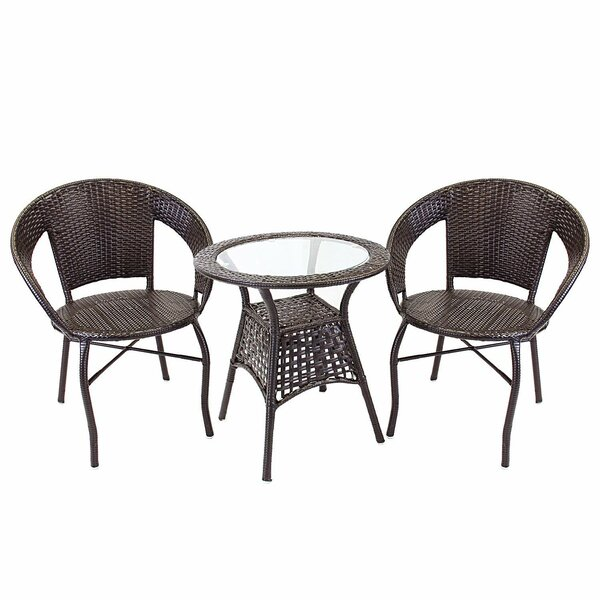 Bertita 3 Piece Bistro Set by Bay Isle Home
