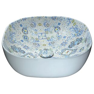 Compare prices Byzantian Vitreous China Circular Vessel Bathroom Sink By ANZZI