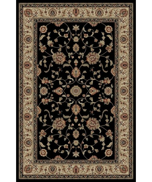 Jewel Marash Black Area Rug by Threadbind