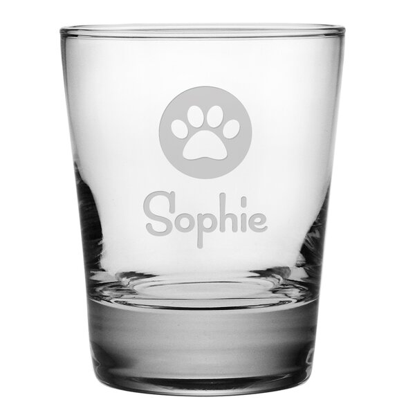 Personalized Paw Print 13.25 oz. Old Fashioned Glass (Set of 4) by Susquehanna Glass