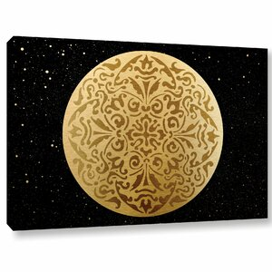 'Golden Spheres 03' Graphic Art on Wrapped Canvas by Bloomsbury Market