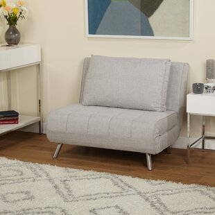 light gray futon chair armless futon   wayfair  rh   wayfair