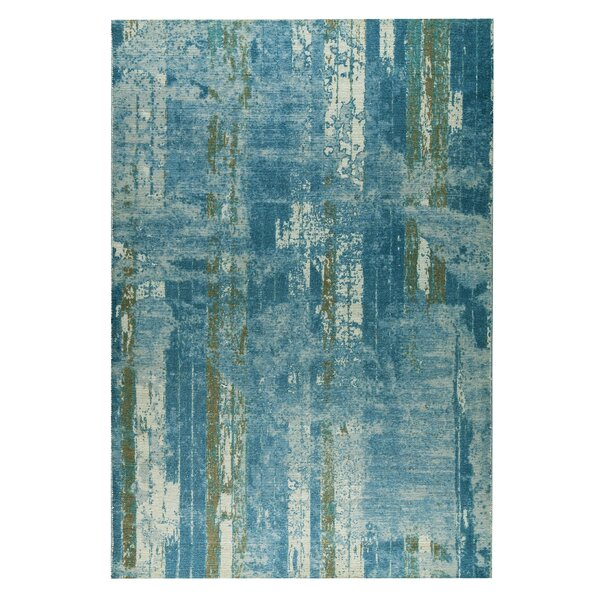 Hayward Hand-Woven Blue/Beige Area Rug by M.A. Trading