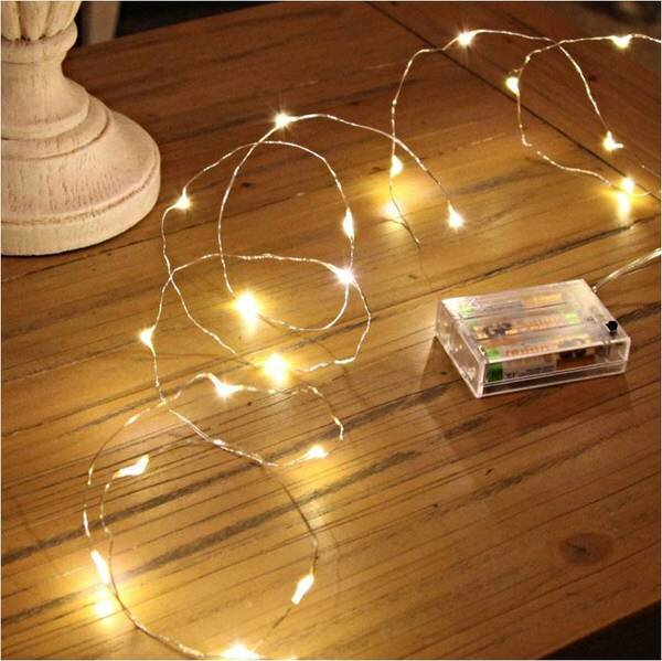 20 Warm LED Light Garland by The Holiday Aisle