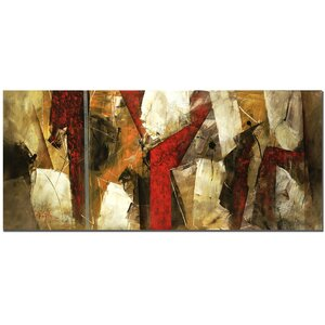 'Abstract IX' by Lopez Painting Print on Canvas by Trademark Fine Art