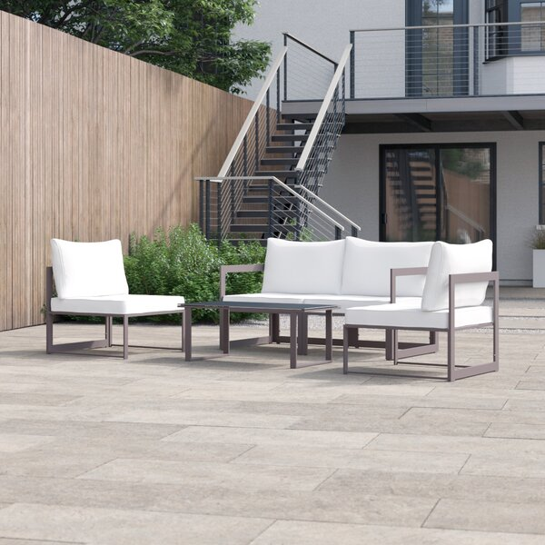 Archer 5 Piece Sofa Seating Group with Cushions by Foundstone