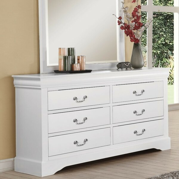 Bastian Wood 6 Drawer Double Dresser By Alcott Hill by Alcott Hill Great price